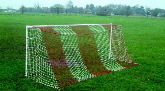 Full Size Continental Football Goal Net - 2 Colour Vertical Stripe