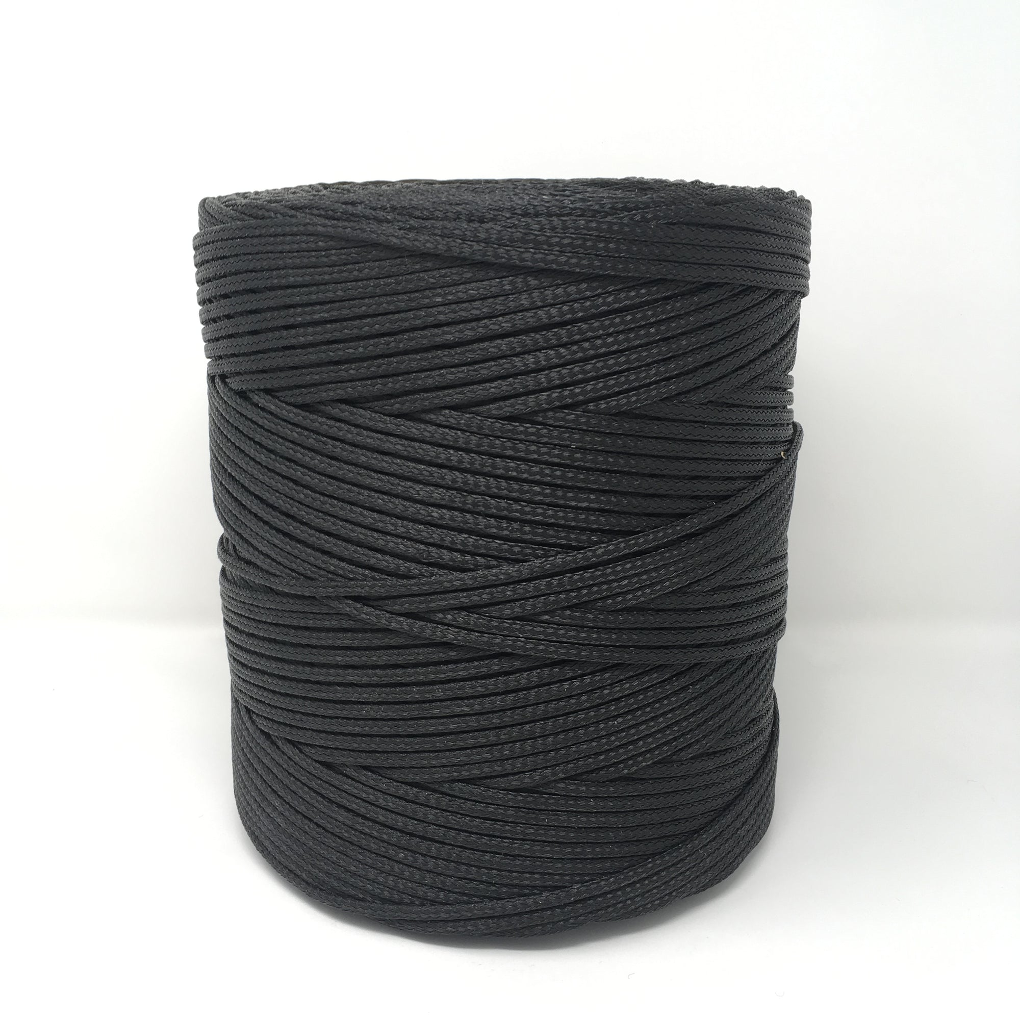 Black braided polypropylene tensioning rope twine for supporting pond safety netting