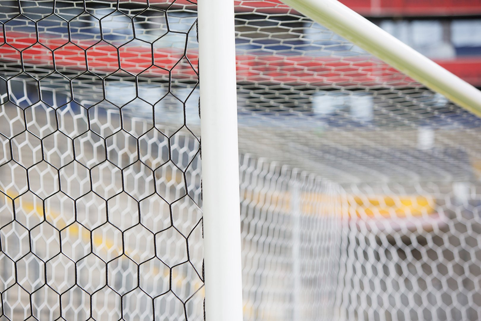 Full size football goal net hexagonal mesh 24' x 8'