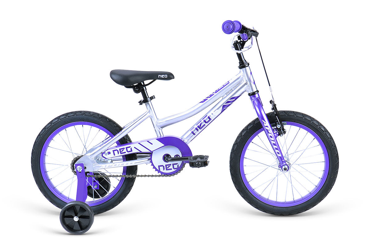 "Neo 16"" Girl's - Brushed Alloy / Purple / White"