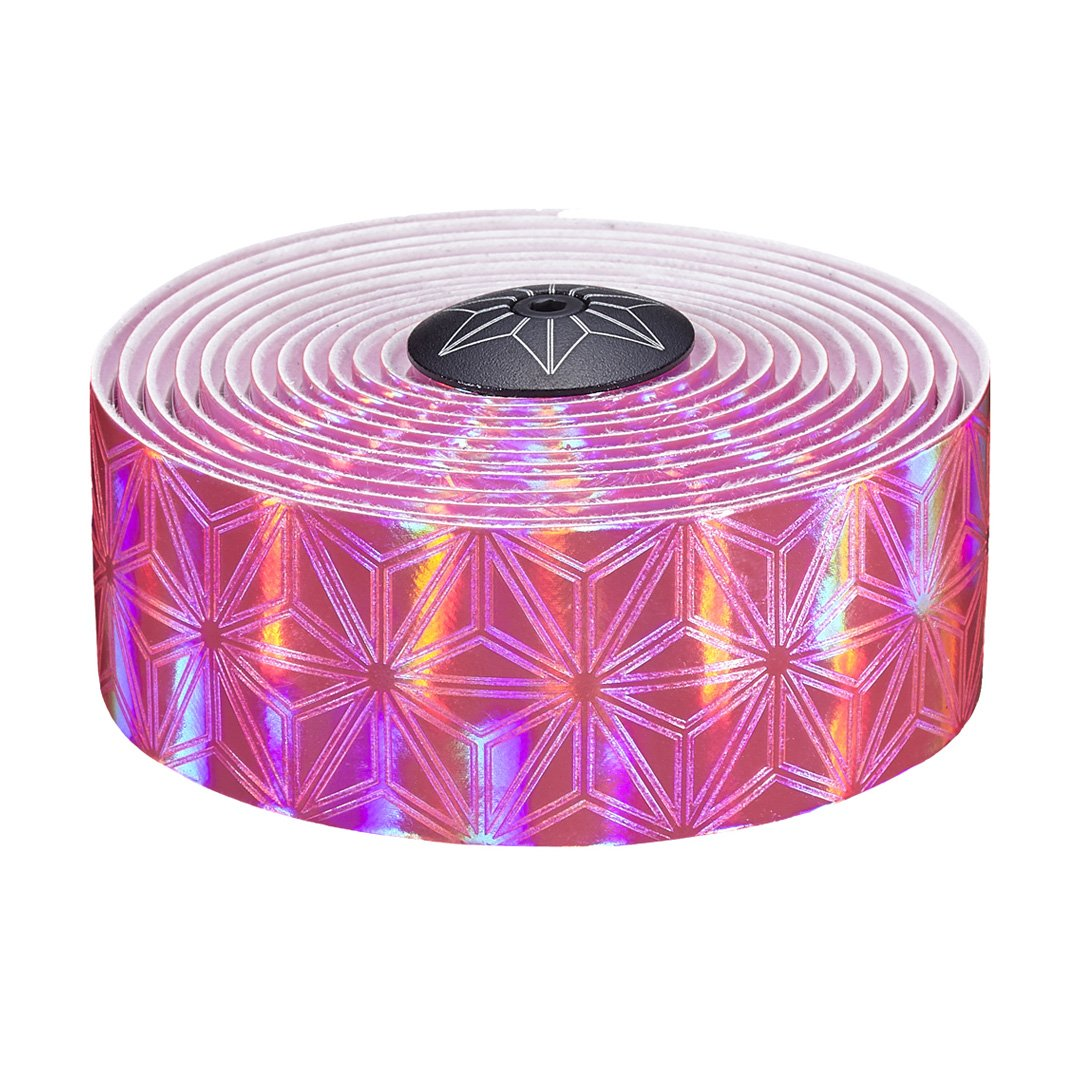 Supacaz - Super Kush Bling Bar Tape - Electric Pink Prizmatik