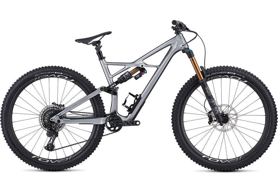 Specialized - S-Works Enduro 29 - 2019-Gloss Flake Silver Form Fade / Tarmac Black