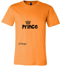 "Load image into Gallery viewer, All Year Round ""Prince"" Canvas Tshirt - J.E.D. Designz"