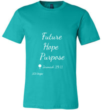 "Load image into Gallery viewer, All Year Round ""Future Hope Purpose Canvas"" Tshirt - J.E.D. Designz"