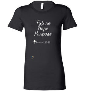 "Fitted ""Future Hope and Purpose"" Crewneck T-shirt"