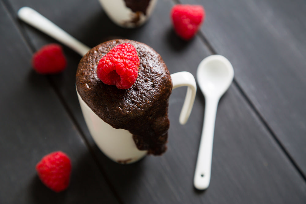 Raspberry Fudge Brownie In A Mug