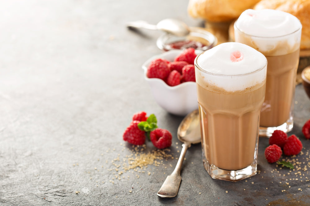 White Chocolate Raspberry Iced Coffee
