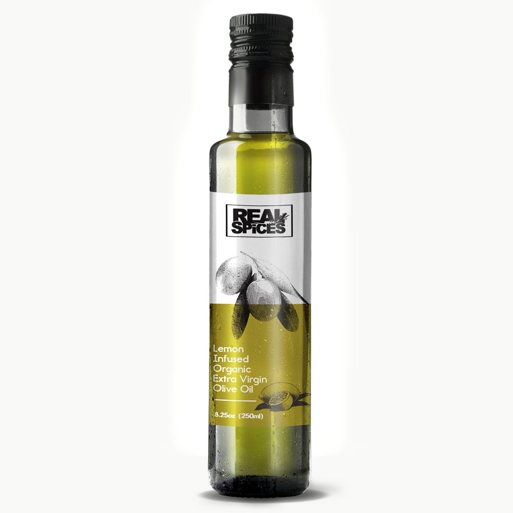 Real Spices - Lemon Infused Organic Extra Virgin Olive Oil