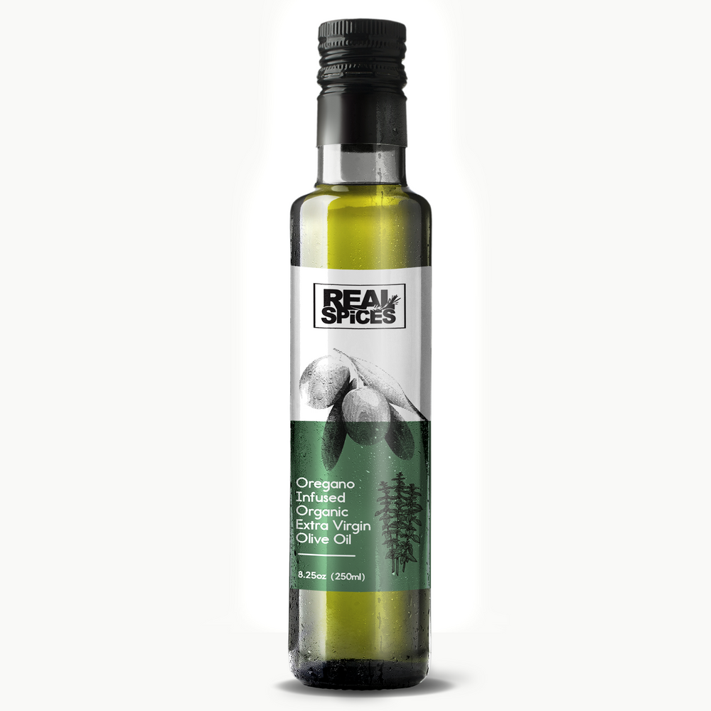 Real Spices - Oregano Infused Organic Extra Virgin Olive Oil