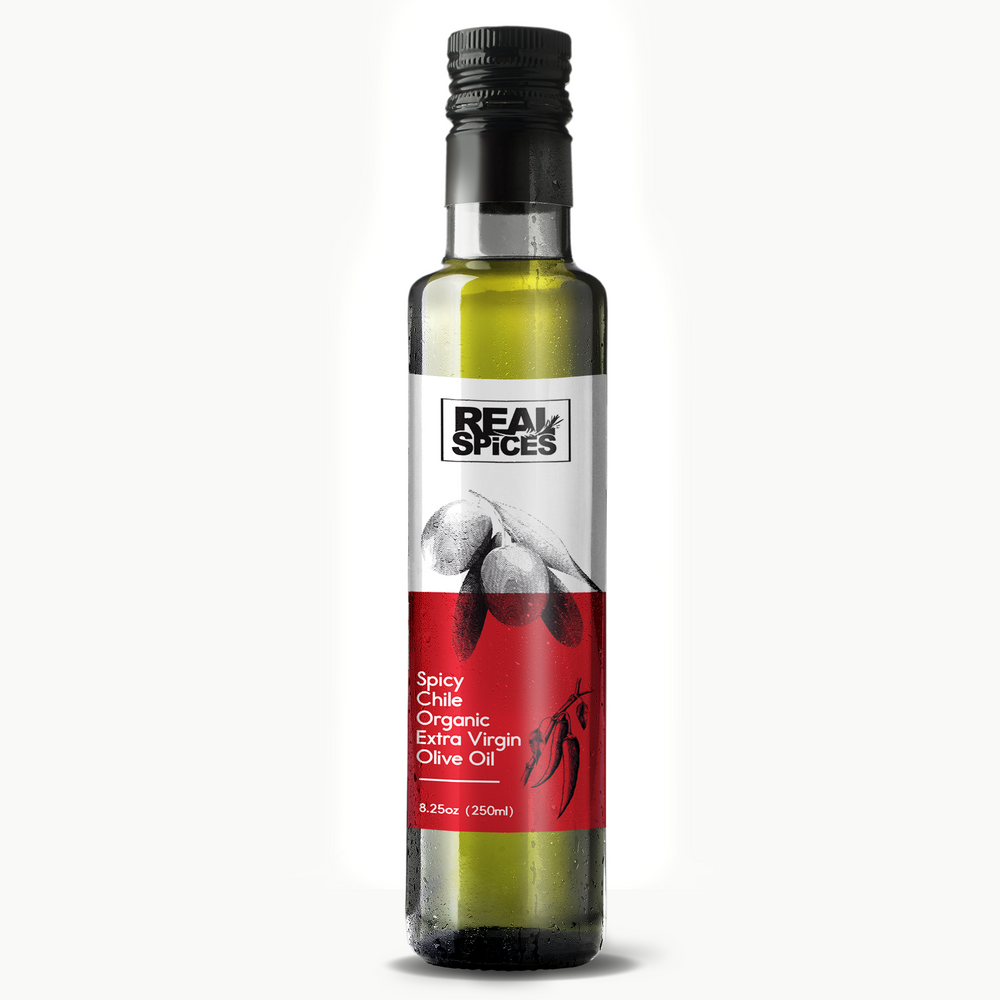Real Spices - Spicy Chile Infused Organic Extra Virgin Olive Oil