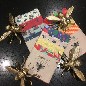Beeswax wraps and Vegan wraps in a Kitchen 4 pack