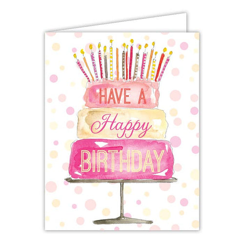Have a Happy Birthday Cake Greeting Card