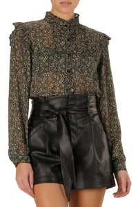 BLACK PAISELY BLOUSE