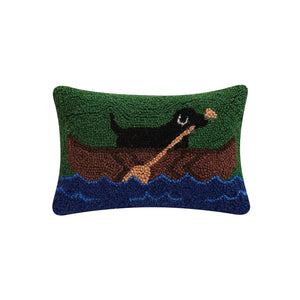 Labrador In Canoe Hook Pillow