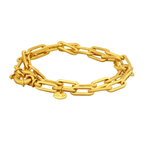 Oval Medium Gold Bracelet 5.2mm 7.5
