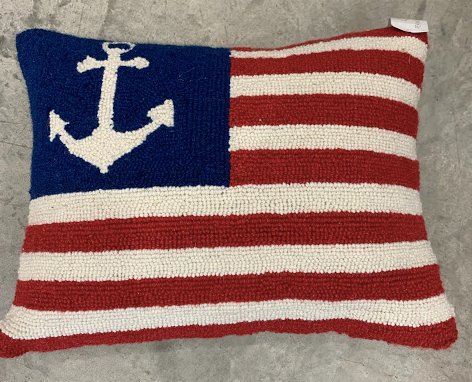 Anchor Flag Pillow