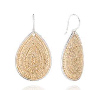Large Dotted Teardrop Earrings
