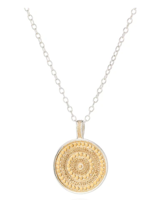 Large Beaded Disc Necklace