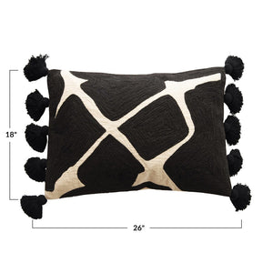 Black Mosaic Pillow