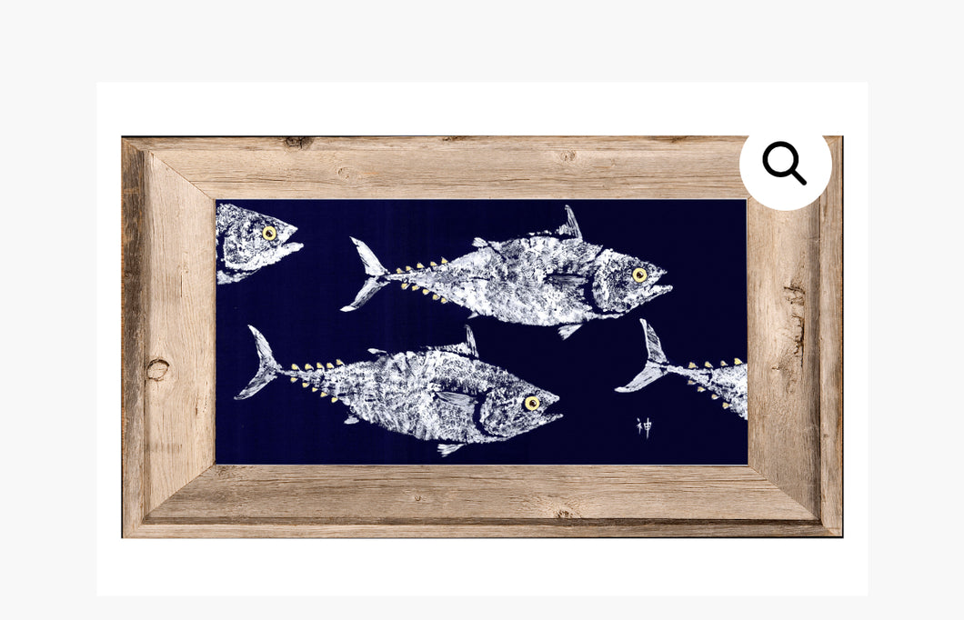 Gyotaku FISH 6X8 Framed