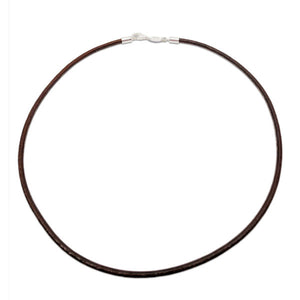 Leather Cord Brown 15""