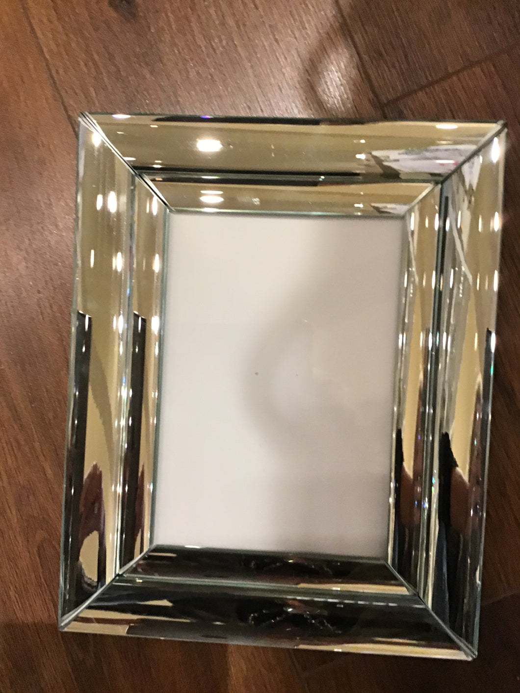 5x7 Silver Mirrored Frame