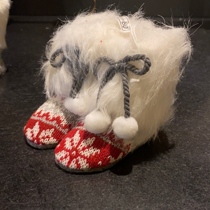Furry Boot Ornament