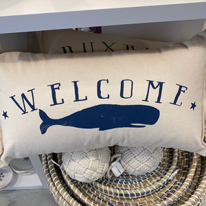 WELCOME WHALE Pillow