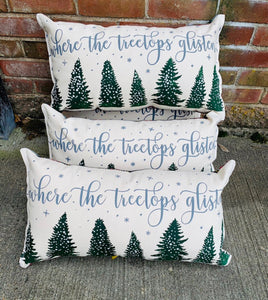 Tree tops glisten pillow sale