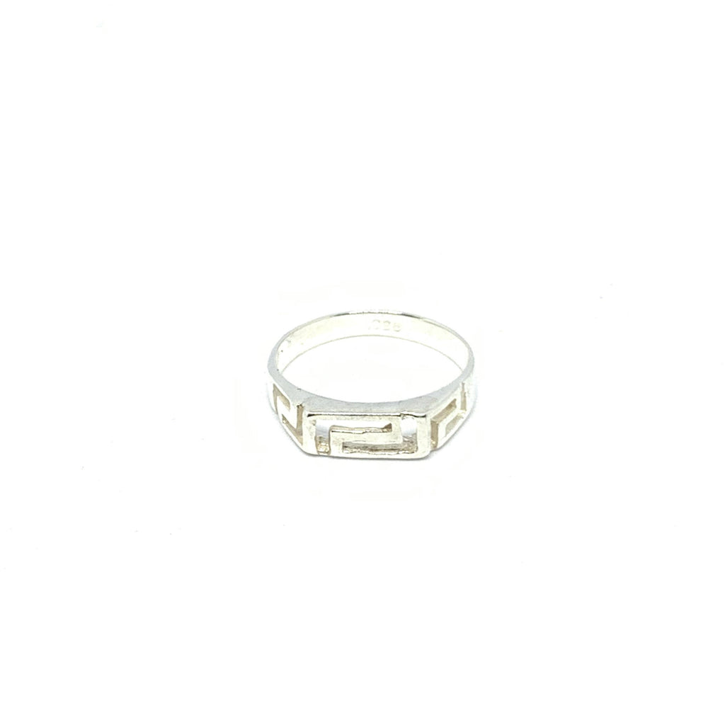 STERLING SILVER MEANDER RING