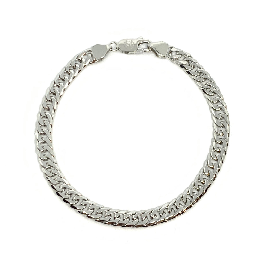 STERLING SILVER INTERLOCKING BRACELET