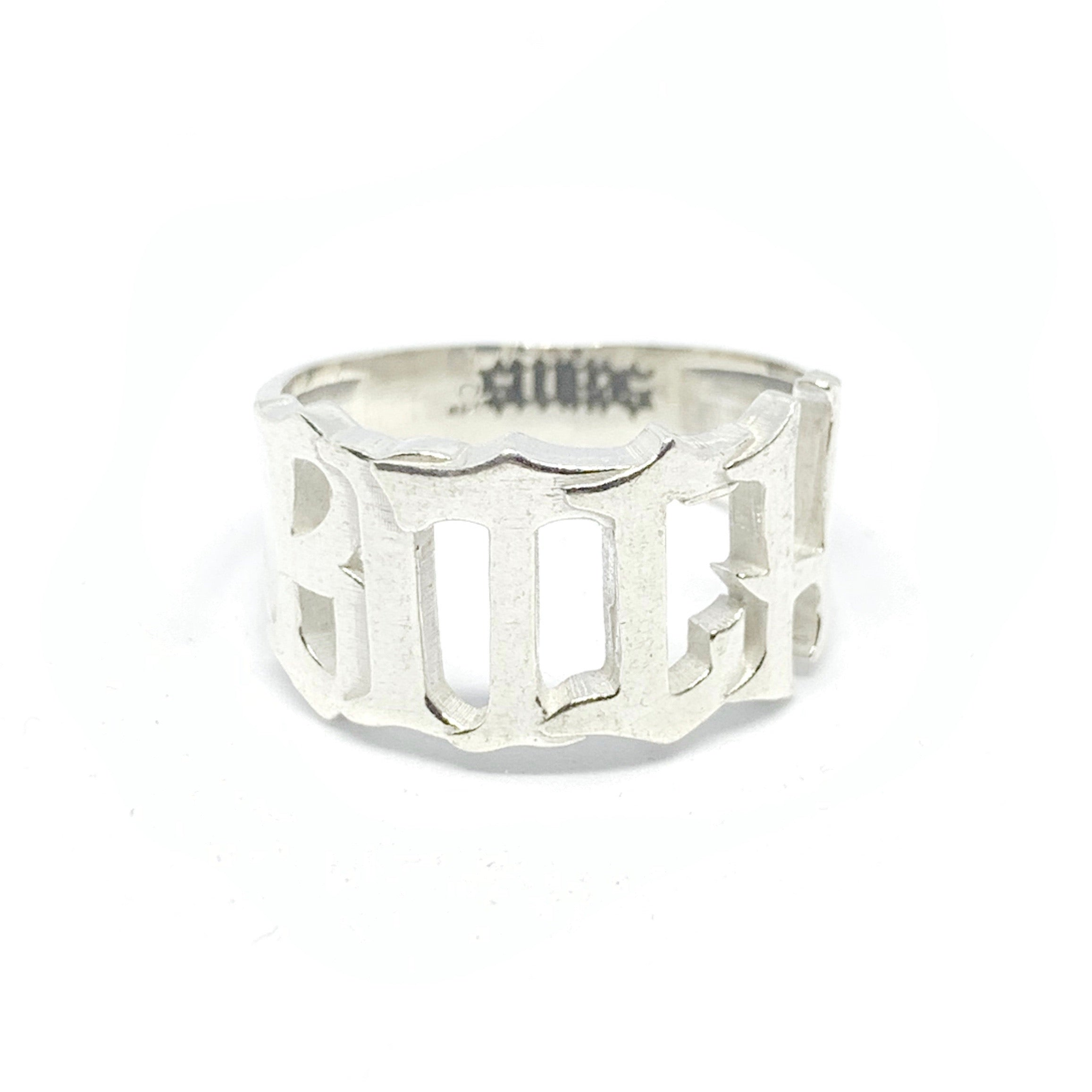 STERLING SILVER BITCH RING