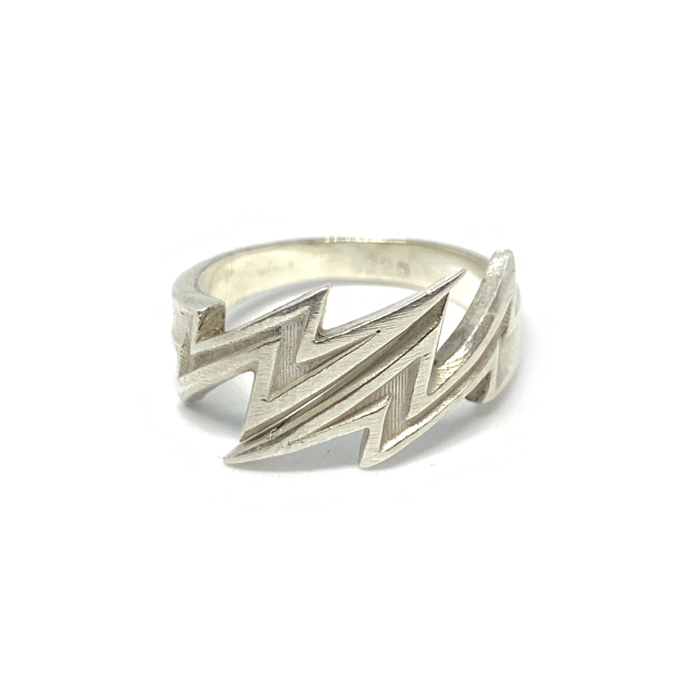 Handcrafted Sterling SIlver | Lightning Bolt Ring | SEAMS Jewelry