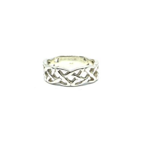 STERLING SILVER CELTIC RING - SEAMS JEWELRY