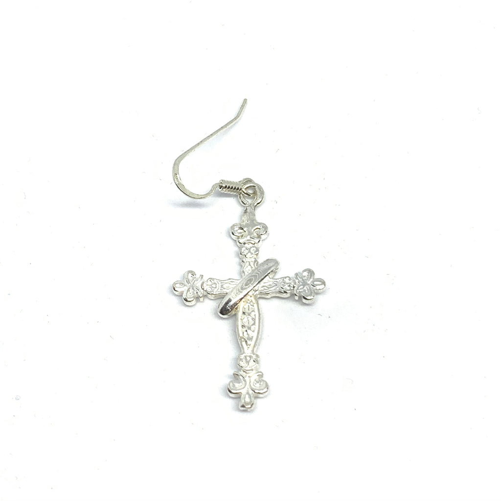 Handcrafted Sterling Silver | Trinity Cross Earring | SEAMS Jewelry