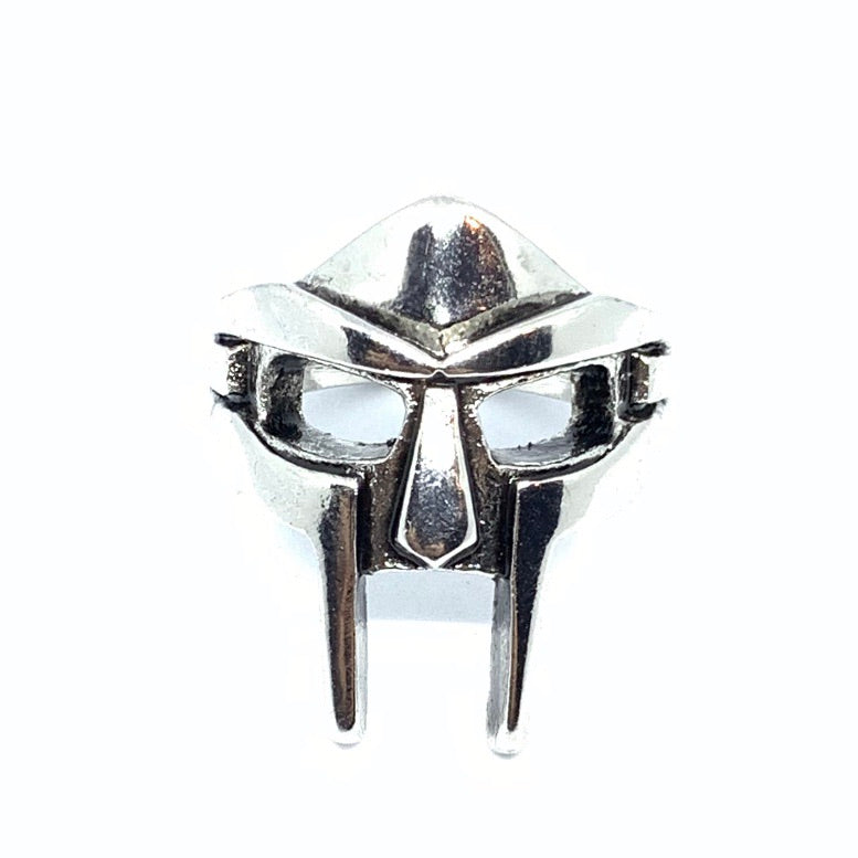 A mask ring in in honor of the legendary late rapper MF Doom! Silver Doom Ring | MF Doom Ring  | Seams Jewelry