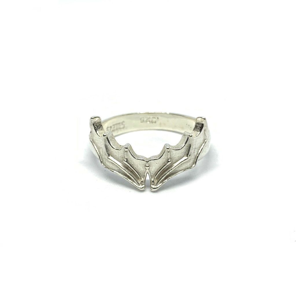 Handcrafted Sterling Silver | Bat Wing Ring | SEAMS Jewelry