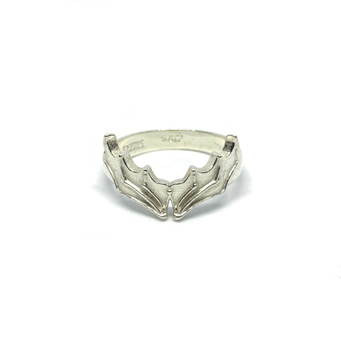 STERLING SILVER BAT WING RING