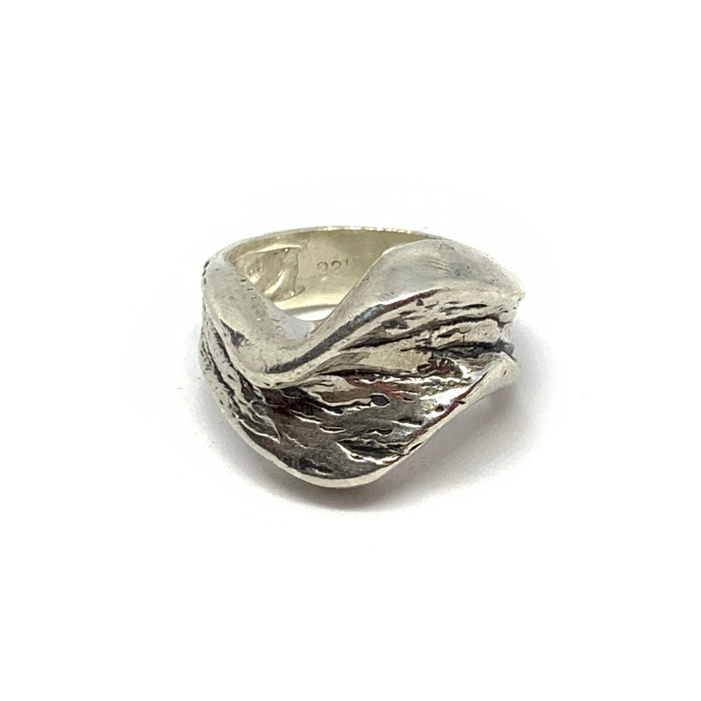 STERLING SILVER EARTH RING