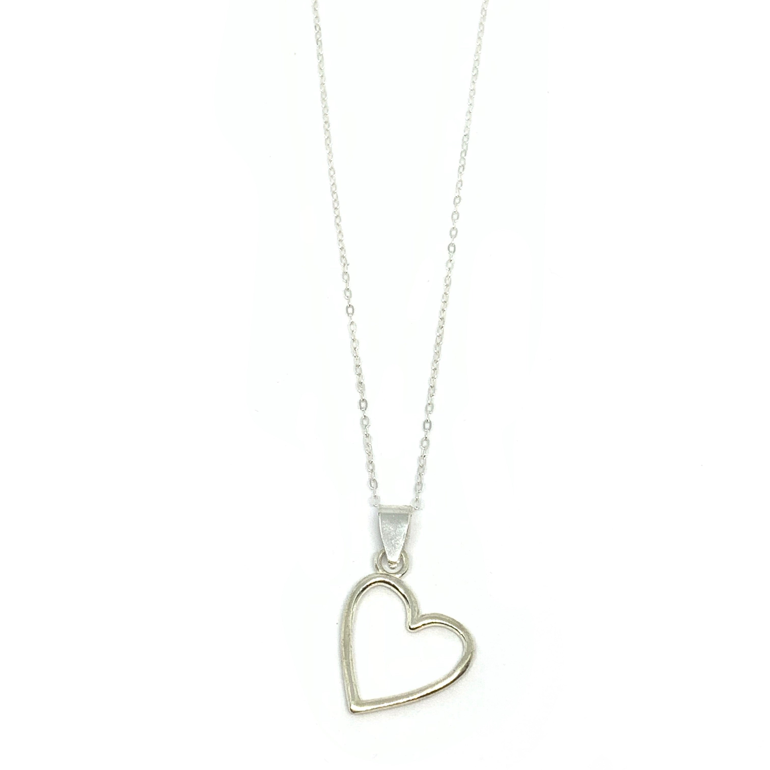 Handcrafted Sterling SIlver | Heart Necklace | SEAMS Jewelry