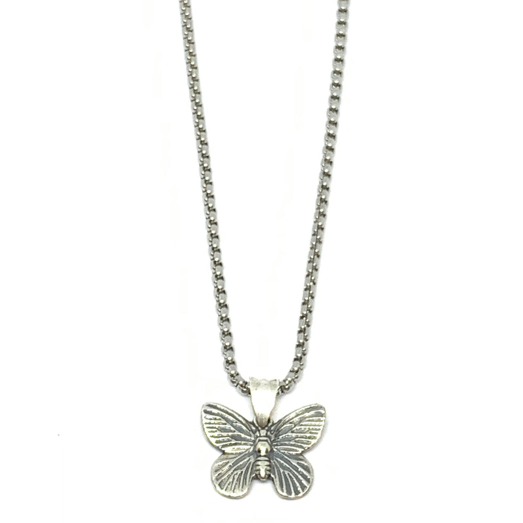 Minimalistic Silver Butterfly Necklace  | Seams Jewelry