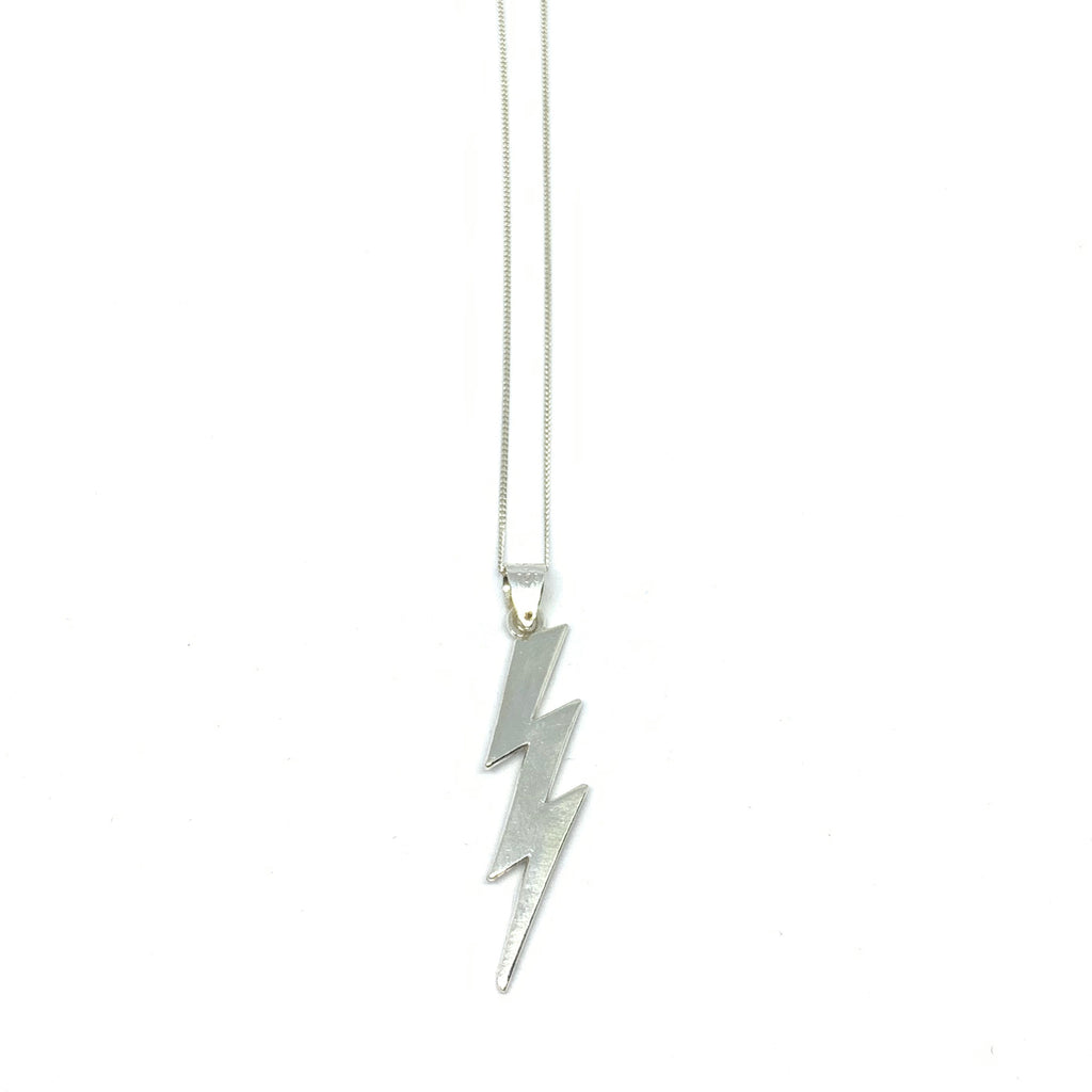 Sterling SIlver | Lightning Bolt Necklace | SEAMS Jewelry