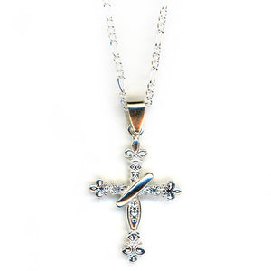 Handcrafted Sterling SIlver | Trinity Cross Necklace | SEAMS Jewelry