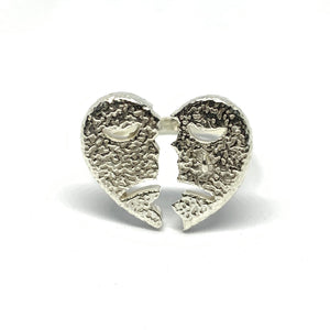 STERLING SILVER HEARTBREAK RING