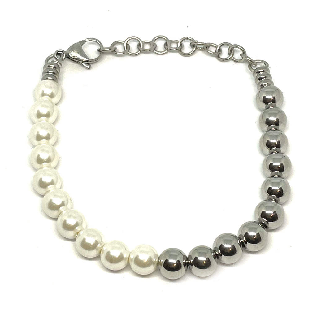 TWO-FACED PEARL BRACELET