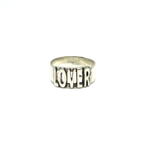 "STERLING SILVER ""LOVER"" RING"