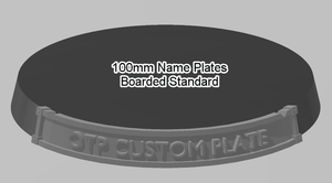 100mm Standard Bordered Name Plate - OTP Terrain & Miniatures Off The Print Gaming