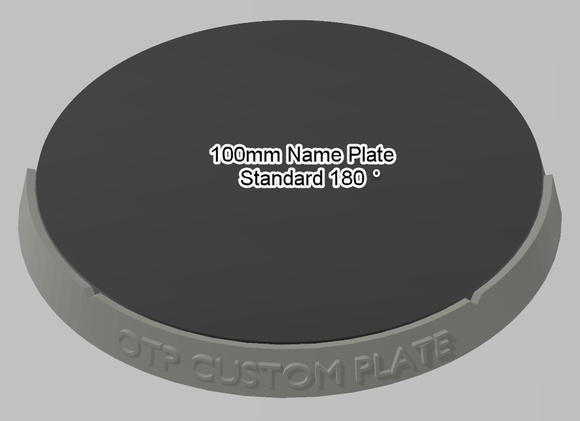 100mm 180° Plain Name Plate