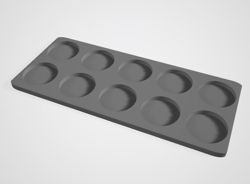 Set of 2 (32mm bases 10 Man Movement Tray)