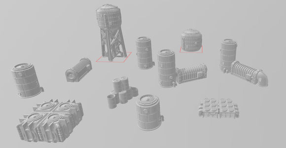 Buildings Scatter Set